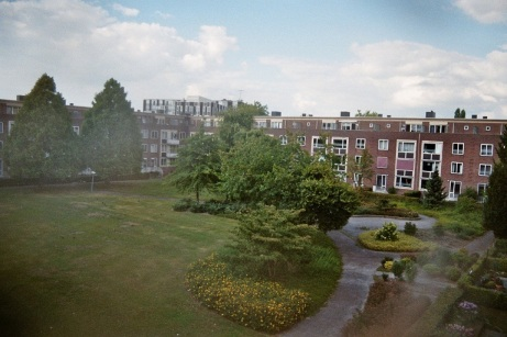 yard houses summer 35mm film photography Eindhoven Netherlands