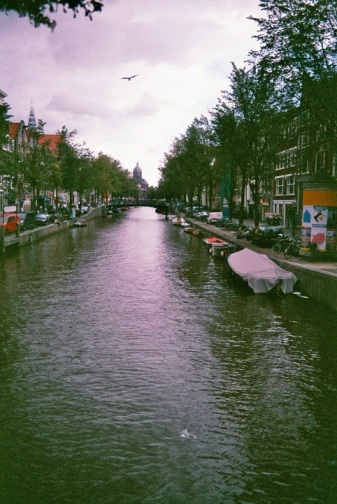 Amsterdam 35mm film photography Netherlands water channel boats city
