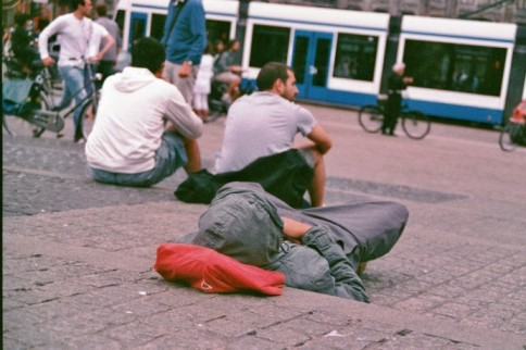 Amsterdam 35mm film photography rest chill netherlands ground lying sleeping