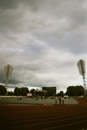 fujicolour superia 200 film 35mm stadium daugavas stadions rīga riga Reggae in Riga Sun Splash 2011 sky
