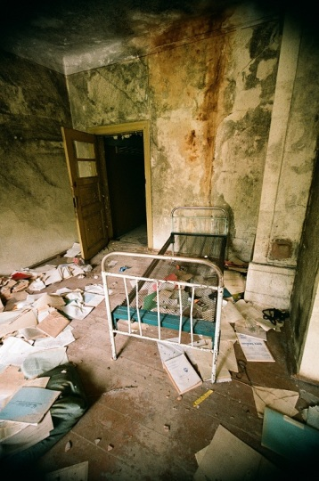 Abandoned Hospital  latvia ērgļi room house old 35mm film photography  bed journals newspaper