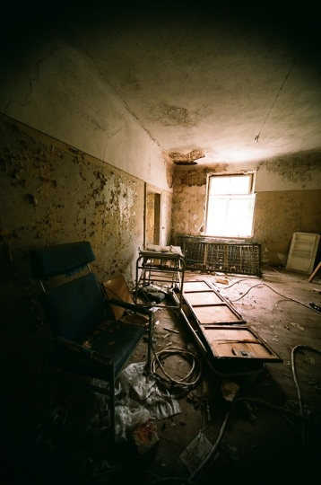 Abandoned Hospital  latvia ērgļi room house old 35mm film photography  window light wheel chair