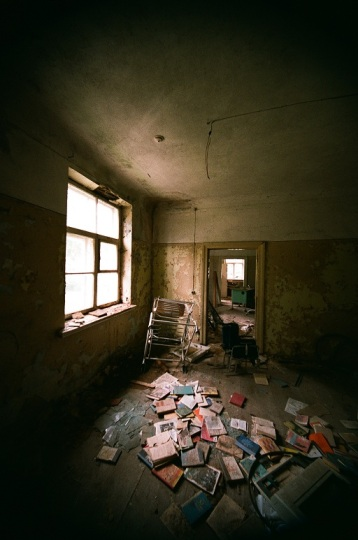 Abandoned Hospital  latvia ērgļi room house old 35mm film photography  window light chair