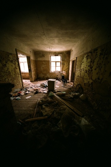 Abandoned  Hospital  latvia ērgļi room house old 35mm film photography  chair window light
