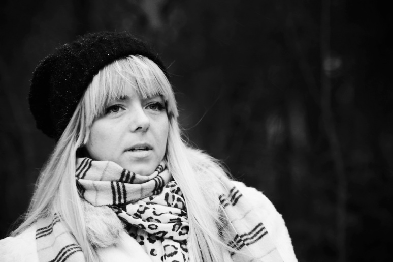black and white, B&W, girl, model, shoot, photography, portrait, fashion shoot, coat, white , winter, casual, no colours , face , look , gaze